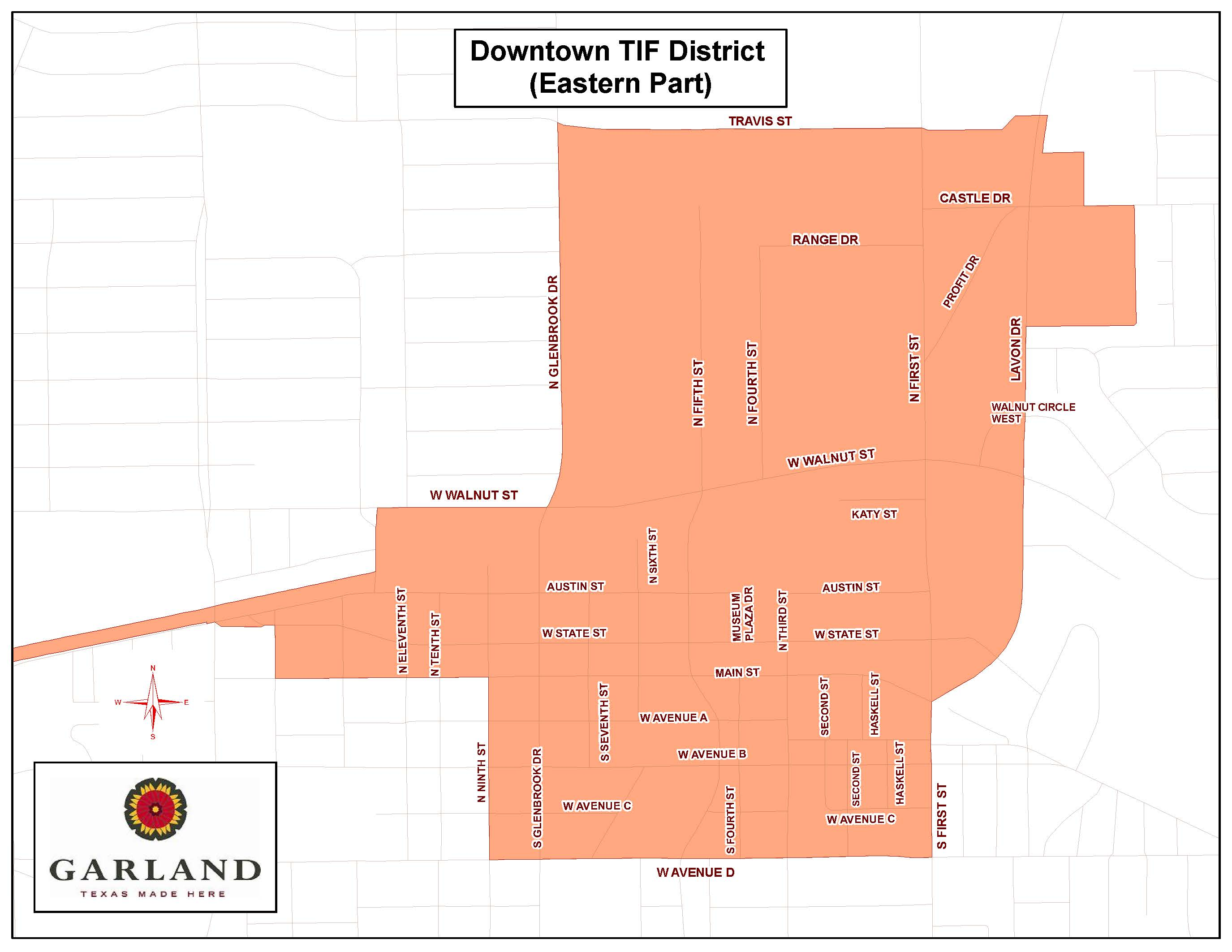 Downtown Tax Increment Financing District - Eastern Map (JPG)